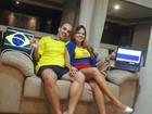 Casal divide torcida entre Colômbia e Brasil e diz que vai ver jogo sem brigas