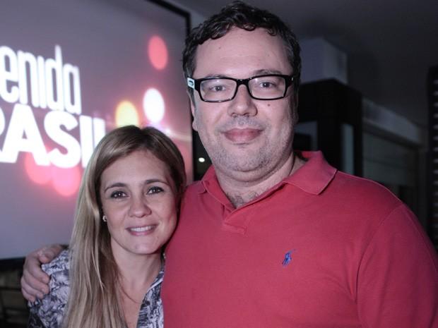João Emanuel Carneiro ganhou o carinho de Adriana Esteves (Foto: Avenida Brasil/TV Globo)
