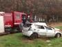Motorista perde controle e capota veículo em rodovia de Votuporanga