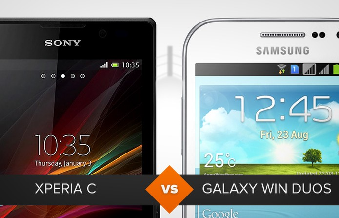 Xperia C e Galaxy Win Duos (Foto: Arte/TechTudo)