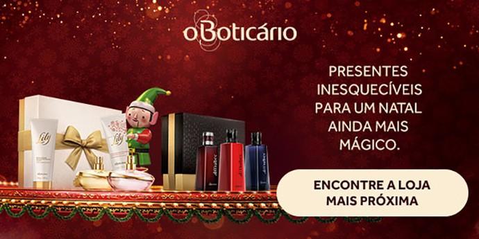 Vitrine - O Boticário - Natal (Foto: Divulgação)