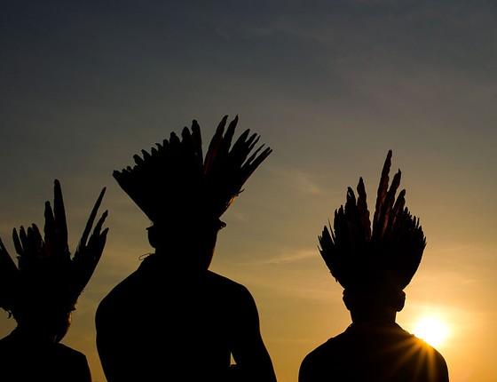 Jogos Olímpicos Indígenas em Palmas, Tocantins (Foto: Buda Mendes/Getty Images)
