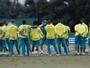 Palmeiras faz treino tático fechado; Prass melhora e foca parte física