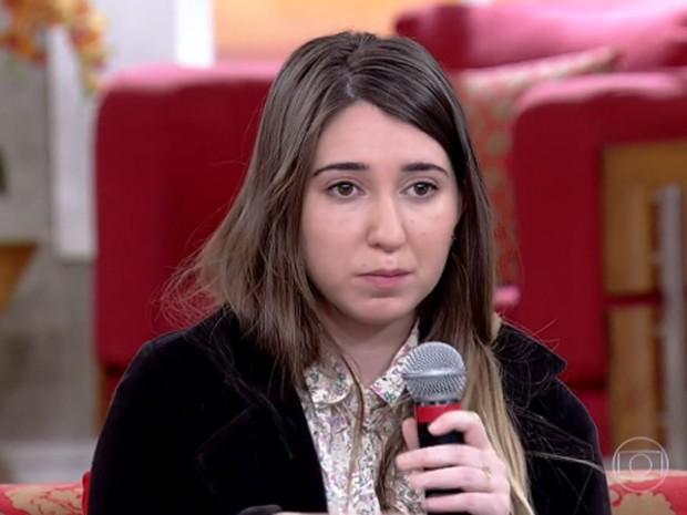 Patrícia conversa com exclusividade com Fátima Bernardes (Foto: Encontro com Fátima Bernardes/TV Globo)