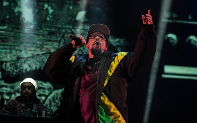 Black Alien no palco do festival João Rock 2016 (Foto: Mateus Rigola/Gshow)
