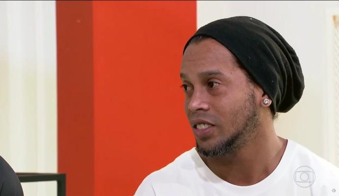 Ronaldinho Gaúcho em entrevista para o Esporte Espetacular (Foto: Reprodução TV Globo)