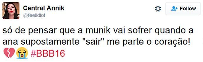 Munik BBB (Foto: Reprodução)