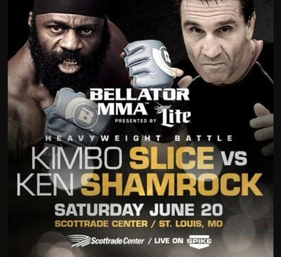 Pôster Kimbo Slice Ken Shamrock Bellator (Foto: Reprodução/Twitter)