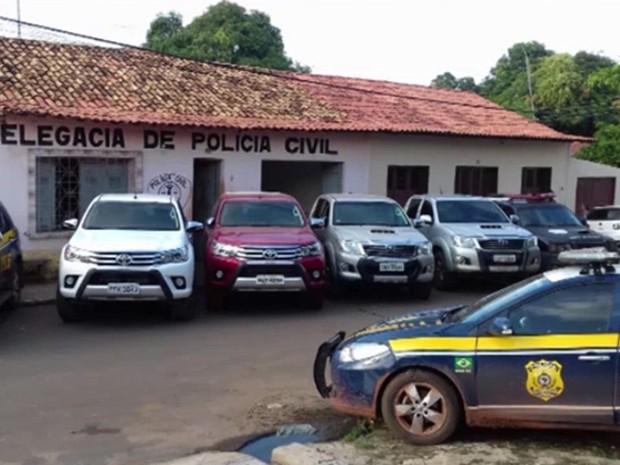 Operação foi realizada entre o Ministério Público, PRF e a Polícia Civil (Foto: Reprodução/TV Mirante)