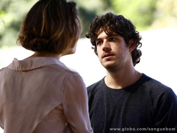Bento e Amora discutem por causa de Giane (Foto: Sangue Bom / TV Globo)