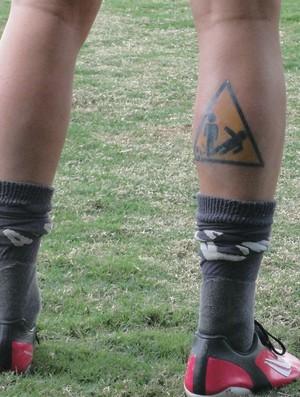 Serginho Bragantino tatuagem (Foto: Arthur Costa/Globoesporte.com)