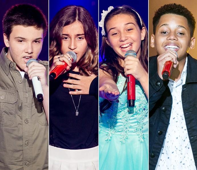 Daniel Henrique, Luna Bandeira, Pérola Crepaldi e Robert Lucas são os representantes do Time Ivete (Foto: Isabella Pinheiro/Gshow)