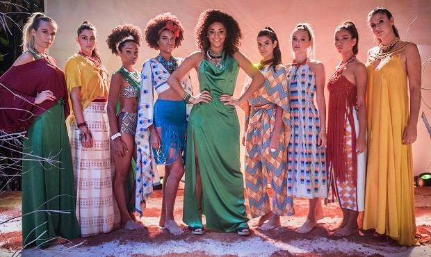 Coleção de Dora Caiçara, personagem de Ju Alves em Sol Nascente, aposta na brasilidade. Capítulo vai ao ar nesta semana (Foto: Divulgação / TV Globo)