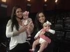 Thais Fersoza leva Melinda ao cinema pela primeira vez
