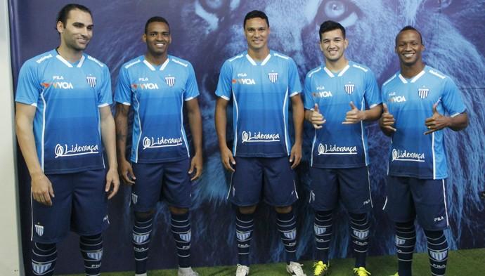 Avaí lançamento uniforme (Foto: Guilherme Lopes/Avaí FC)