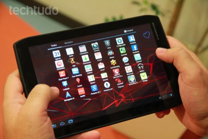 Android 3.2 (Honeycomb) rodando no Motorola Xoom 2 Media Edition (Foto: Allan Melo/TechTudo)