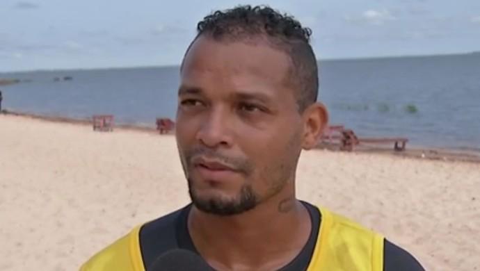 Robinho, atacante do São Francisco (Foto: TV Tapajós/Reprodução)