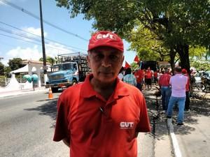 Paulo Marcelo, presidente da CUT-PB (Foto: Felipe Ramos/ G1 PB)