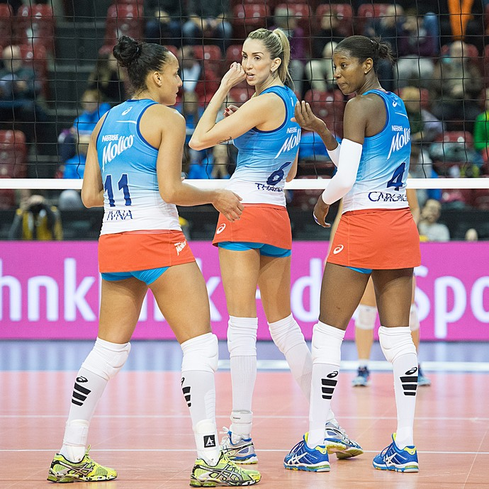 Osasco, Ivna, Thaisa e Carcaces, Top Volley (Foto: AP)