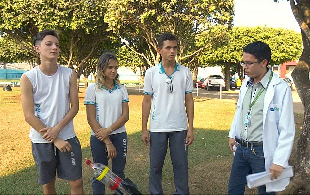 Estudantes de RO participam de Olimpíada Brasileira de Foguetes (Foto: Rondônia TV)