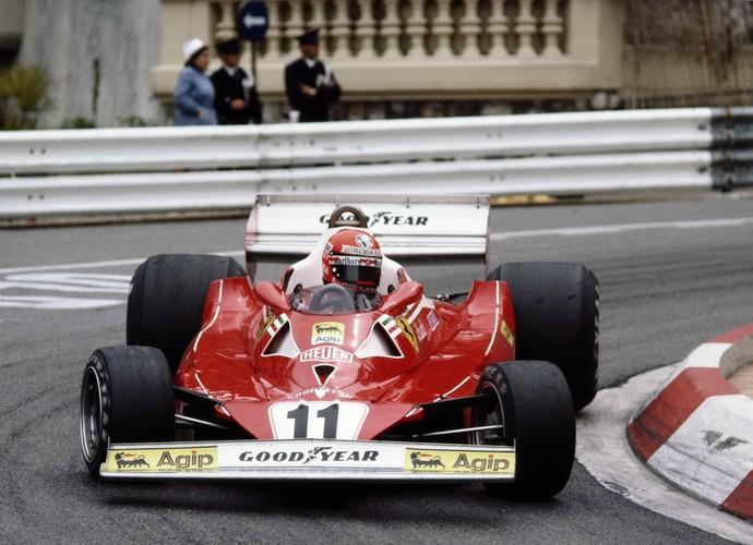 Ferrari foi tricampeã mundial de Constutores em 1977. Niki Lauda em Mônaco (Foto: Getty Images)