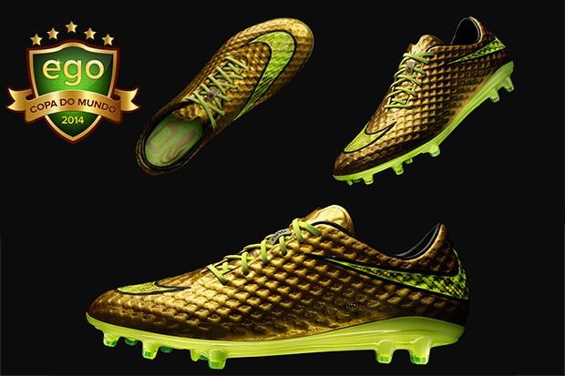 aa09948b25 EGO - Neymar usa chuteiras douradas de R  1