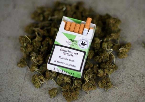 Cigarros de maconha Heimat vendidos em supermercados na Suíça (Foto: Divulgação)