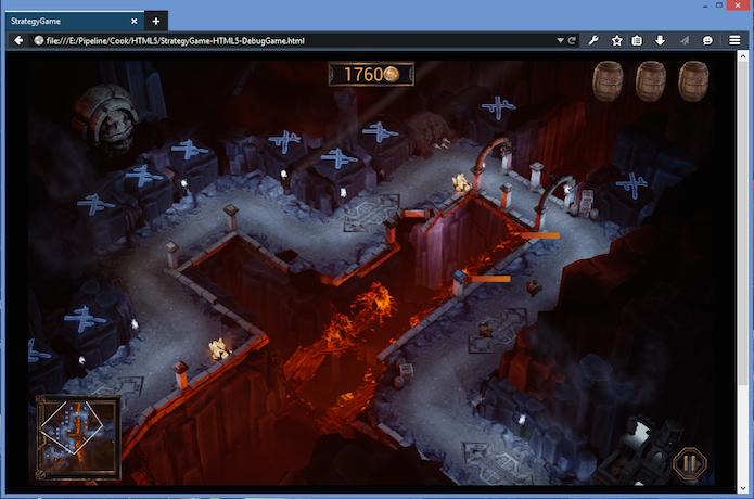 Demo do Unreal Engine no Firefox Developer Edition 64 bits para Windows (Foto: Reprodução/Mozilla Hacks)