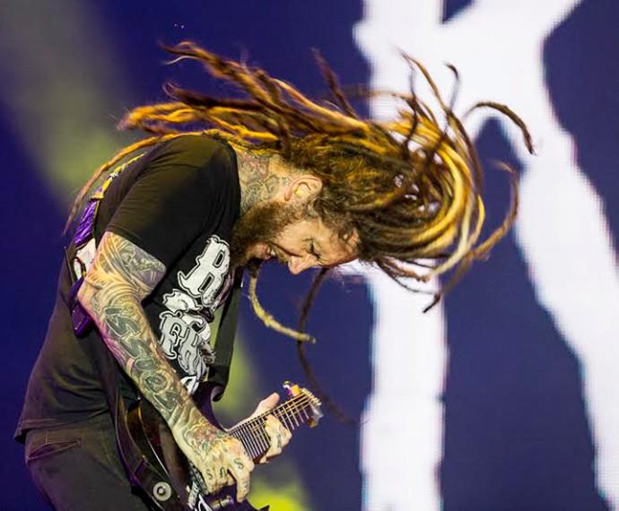 Korn fecha o palco Sunset no sábado, 19/9 (Foto: Felipe Monteiro/Gshow)