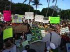 Manifestantes nascidos no ES protestam pelo Brasil no exterior