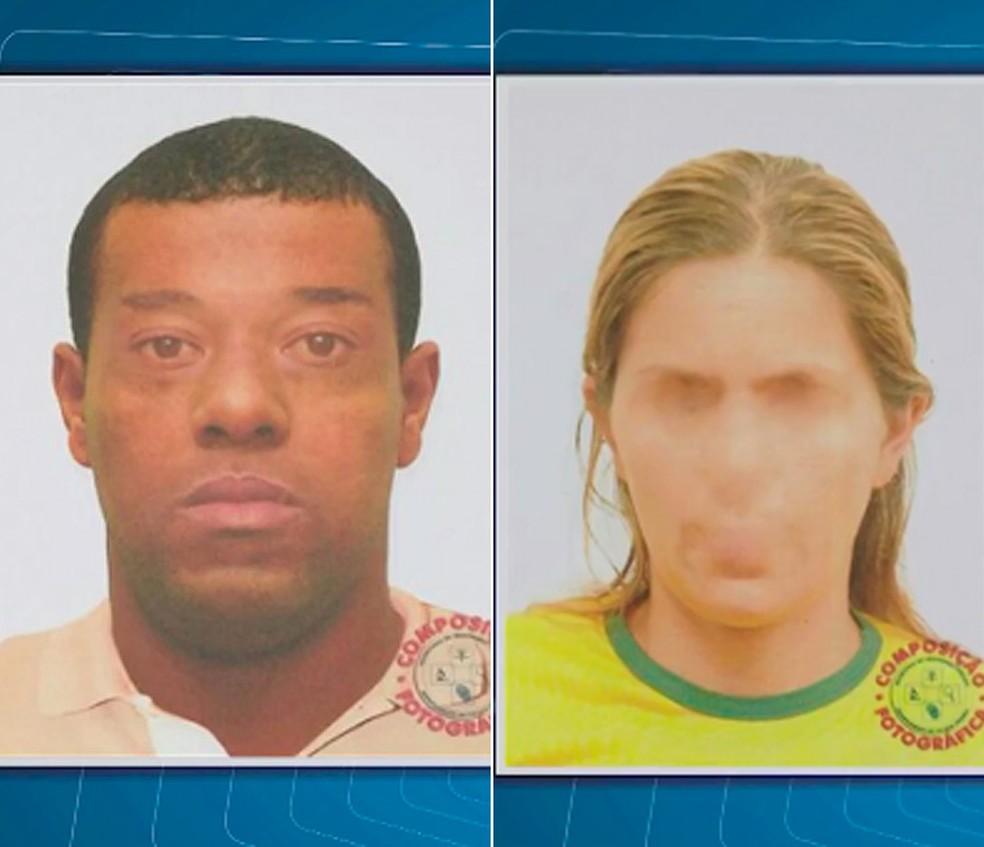 Retrato falado após denúncia de caminhoneiro (Foto: Reprodução/ TV Subaé)