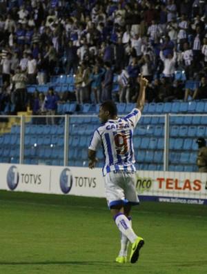 Reis comemoração Avai (Foto: Jamira Furlani / Avaí FC)