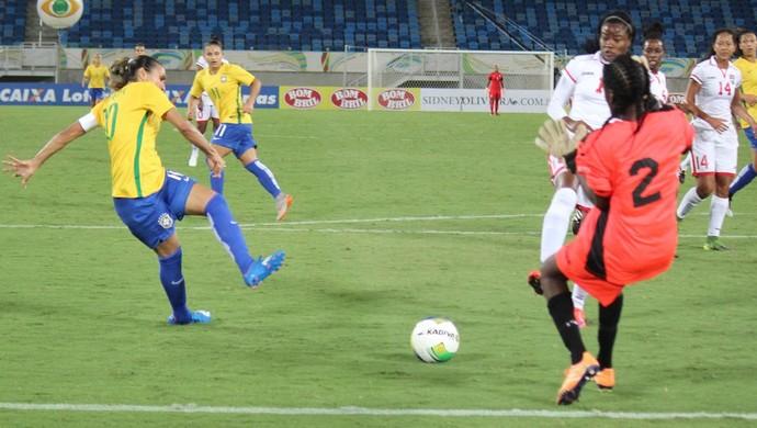Marta Brasil x Trinidad e Tobago (Foto: Diego Simonetti/Blog do Major)