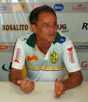 Edson Ermenegildo, presidente do Mirassol, e Roberval Davino  (Foto: Vinicius de Paula/Agência Mirassol FC )