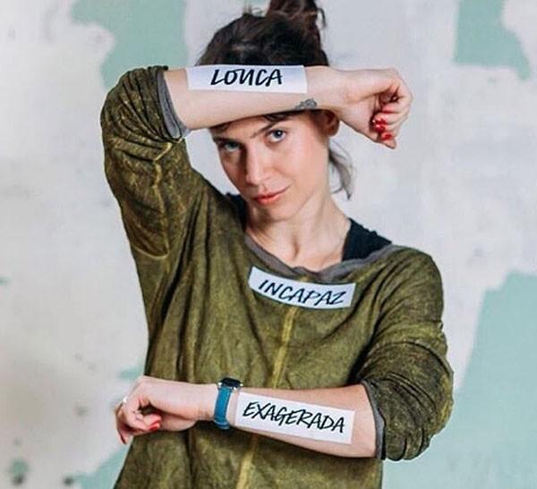 Mel Lisboa posa para a campanha #TambémÉViolência (Foto: Divulgação)