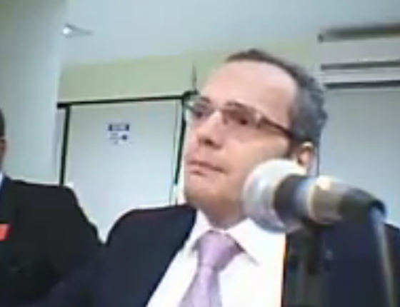 Lúcio Bolonha Funaro, em depoimento na 10ª Vara Federal de Brasília (Foto: Reprodução)