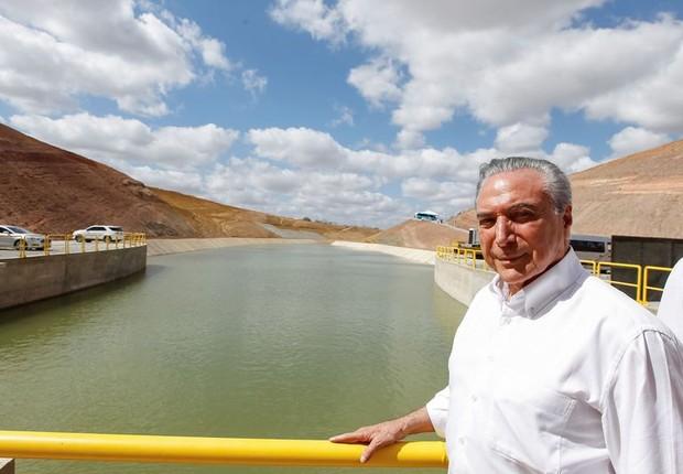Presidente Michel Temer inaugura Estação de Bombeamento do Rio São Francisco (Foto: Beto Barata/PR)