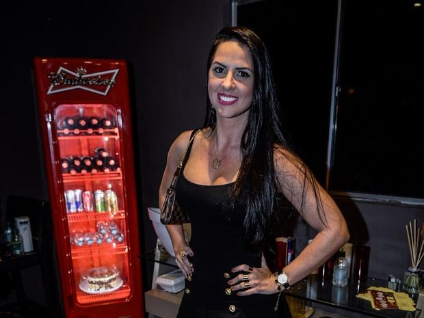 Graciele Lacerda, em show em Goiânia, Goiás (Foto: Francisco Cepeda/ Ag. News)
