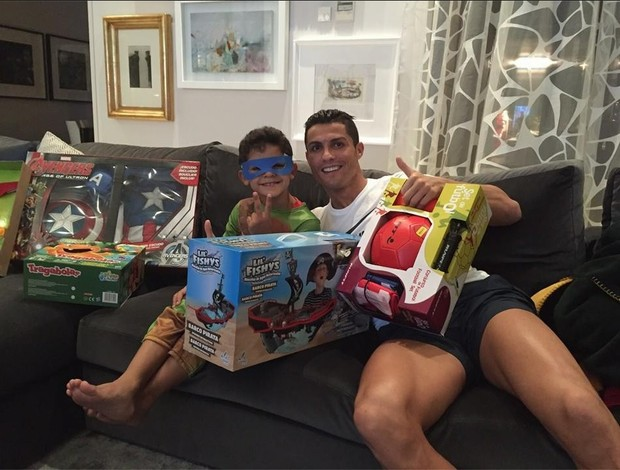 Cristiano Ronaldo no dia de reis
