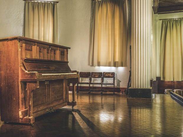 Estudante fotografou órgão em anfiteatro da escola Peixoto Gomide (Foto: Arquivo Pessoal/ Gustavo de Moraes)