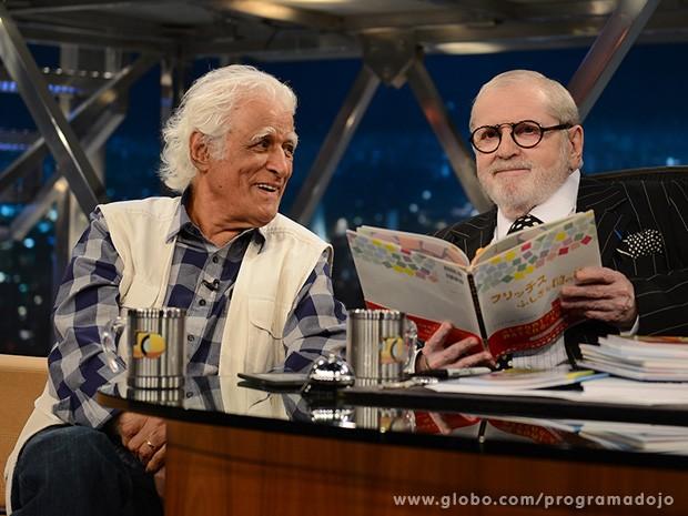 Ziraldo participa do Programa do Jô desta segunda-feira (Foto: TV Globo/Programa do Jô)