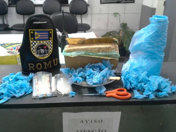 Guarda de Porto Feliz apreende mais de um quilo de drogas (Foto: GCM/Divulgação)