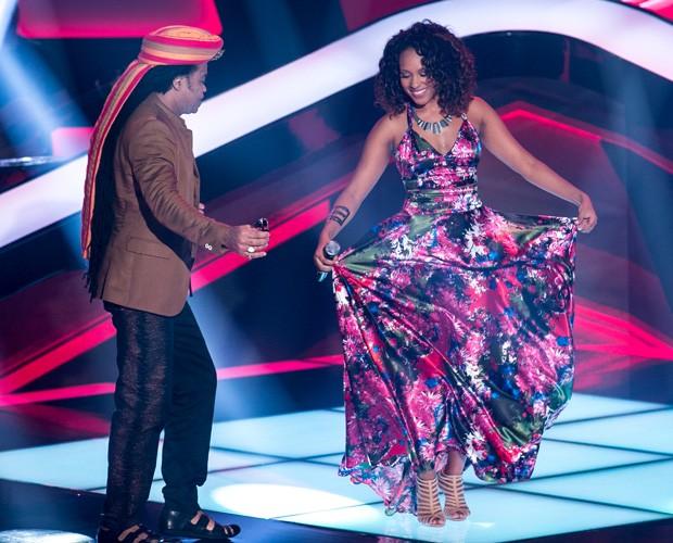 Vanessa Borges canta no terceiro dia de audições (Foto: Isabella Pinheiro/ TV Globo)