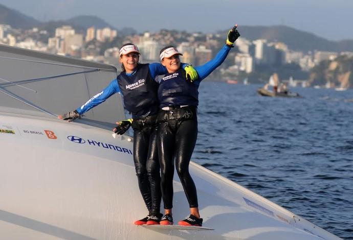 Martine Grael e Kahena Kunze evento-teste vela Rio (Foto: André Durão)