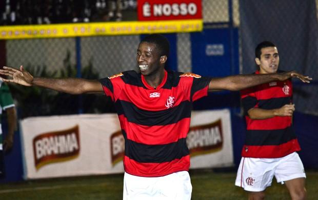 Flamengo Fut 7 comemora mais um gol em cima do Riostrense pelo Carioca (Foto: Davi Pereira/JornalF7.com)