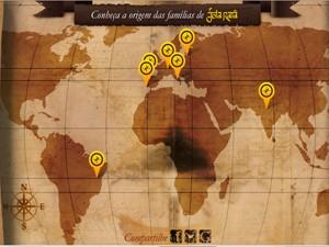 Entre no site de Joia Rara e divirta-se com o aplicativo Mapa Mundi (Foto: Joia Rara/TV Globo)