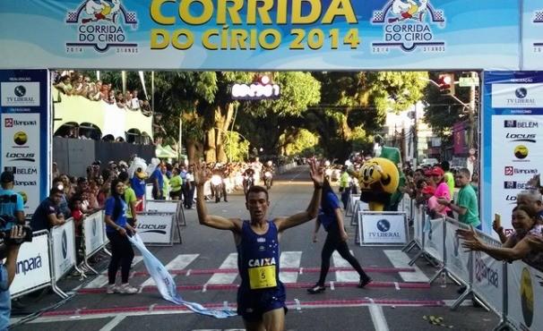 Corrida do Círio 2014- vencedor Márcio Leão (Foto: Pedro Cruz)