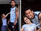 Fred paparica a filha, Geovanna, e mostra foto em rede social