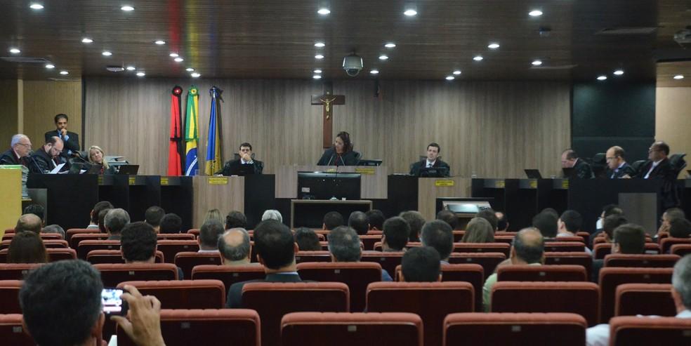 Pleno do Tribunal Regional Eleitoral da Paraíba (TRE-PB) julgou Aije da PBPrev, contra Ricardo Coutinho (Foto: Krystine Carneiro/G1)