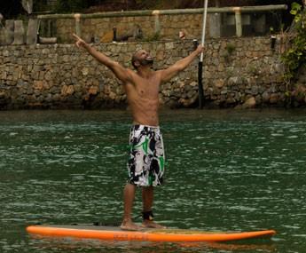 Douglas Tavares exalta contato com a natureza (Foto: Gabriel Nascimento / Gshow)